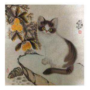 于福东国画作品《【小猫2】作者于福东》价格2400.00元
