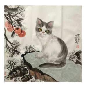 于福东国画作品《【小猫3】作者于福东》价格2400.00元