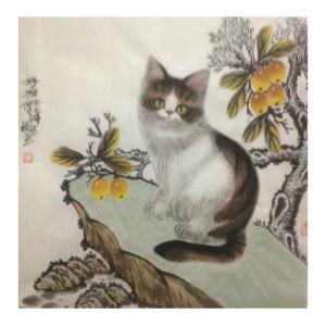 于福东国画作品《【小猫4】作者于福东》价格2400.00元