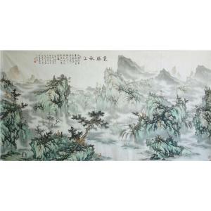 王凌云国画作品《【览胜秋江】作者王凌云》价格7200.00元