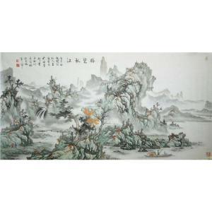 王凌云国画作品《【览胜秋江2】作者王凌云》价格2400.00元