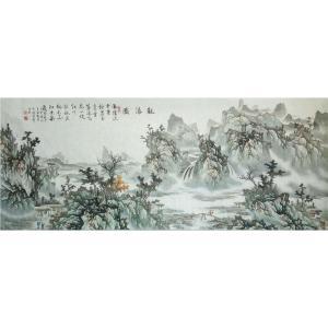 王凌云国画作品《【观瀑图1】作者王凌云》价格3600.00元