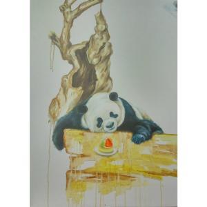 兰笑凤油画作品《【萌】作者兰笑凤》价格6720.00元