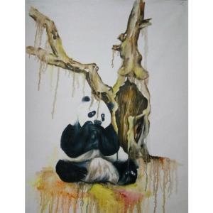兰笑凤油画作品《【枯木】作者兰笑凤》价格6720.00元