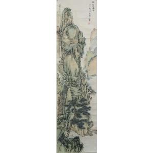 李儒信国画作品《【春山飞瀑图】作者李儒信》价格1920.00元