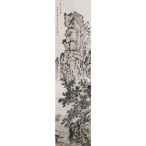 李儒信国画作品《【夏山待客图】作者李儒信》价格1920.00元