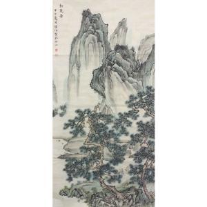 李儒信国画作品《【松泉图】作者李儒信》价格4800.00元