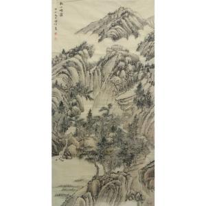 李儒信国画作品《【谷山青云】作者李儒信》价格4800.00元