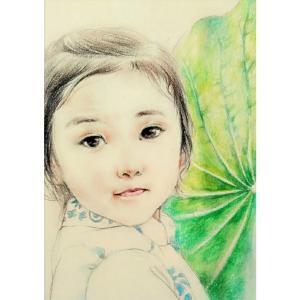 刘晓宁油画《【小女孩】作者刘晓宁》