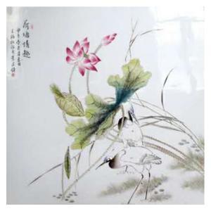 王福秋国画作品《【荷塘情趣】作者王福秋》价格19200.00元