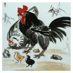 王福秋国画作品《【 鸡 】作者王福秋》价格19200.00元
