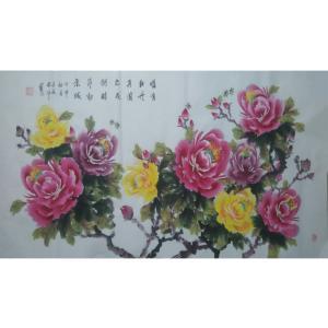 张洋国画作品《【牡丹】作者张洋》价格2400.00元