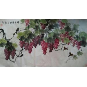 张洋国画作品《【硕果清香】作者张洋》价格2400.00元