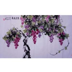 张洋国画作品《【紫气 东来】作者张洋》价格2400.00元