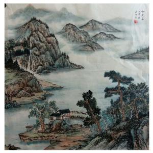 墨丹国画作品《【山河之家】作者墨丹》价格480.00元