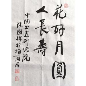 陈国祥书法作品《【花好月圆】作者陈国祥》价格4800.00元