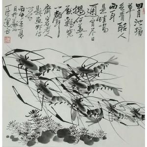 丁洪运国画作品《【池塘游龙】作者丁洪运》价格720.00元