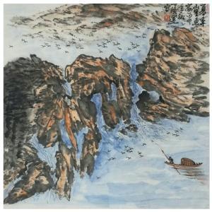 丁洪运国画作品《【夏季山里】作者丁洪运》价格720.00元