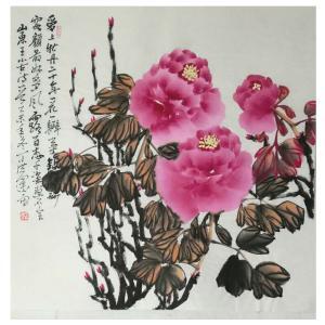 丁洪运国画作品《【爱牡丹】作者丁洪运》价格720.00元