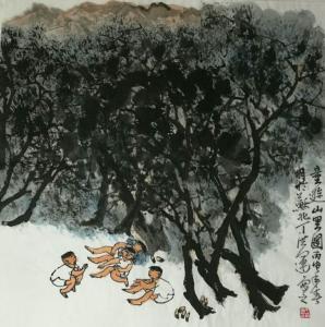 丁洪运国画作品《【童趣山里】作者丁洪运》价格720.00元
