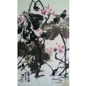 李朝国国画作品《【莲花3】作者李朝国》价格7200.00元