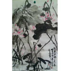 李朝国国画作品《【莲花4】作者李朝国》价格7200.00元