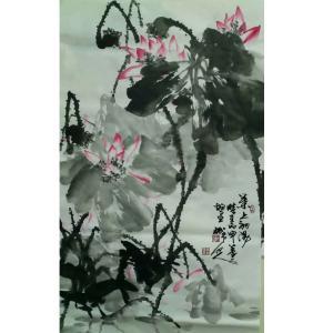 李朝国国画作品《【莲花5】作者李朝国》价格7200.00元