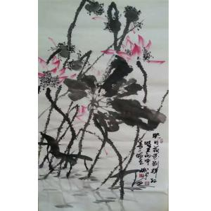 李朝国国画作品《【莲花6】作者李朝国》价格7200.00元