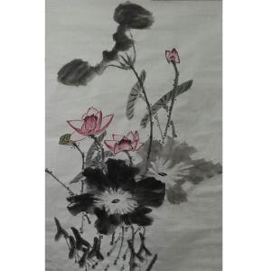 李丽芳国画作品《【水莲】作者李丽芳》价格1920.00元