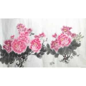 李丽芳国画作品《【粉玫瑰】作者李丽芳》价格1920.00元