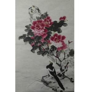 李丽芳国画作品《【昂望花朵】作者李丽芳》价格1920.00元