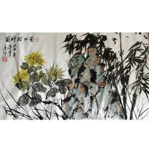 肖雪毅国画作品《【菊花】作者肖雪毅》价格1200.00元