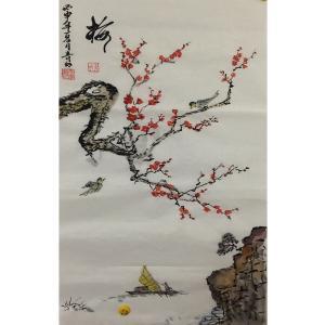 肖雪毅国画作品《【梅花】作者肖雪毅》价格1200.00元