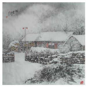 杨景林国画作品《【雪景】作者杨景林》价格1440.00元