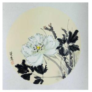 张大石国画作品《【白牡丹】作者张大石》价格480.00元