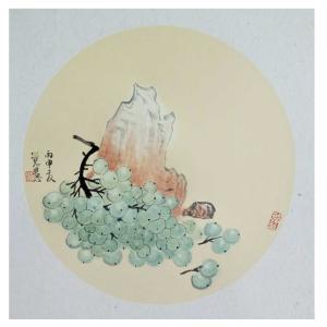 张大石国画作品《【葡萄】作者张大石》价格480.00元