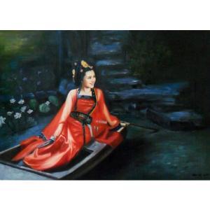 陈力油画作品《古代美女油画》价格1220.00元