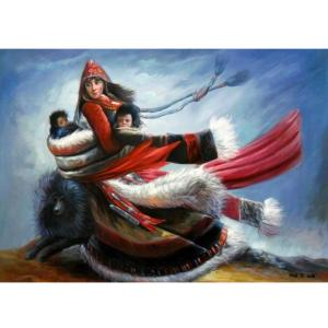 陈力油画作品《少数民族人物油画》价格1220.00元