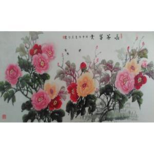 黄一龙国画作品《【花开富贵】作者黄一龙》价格386.00元