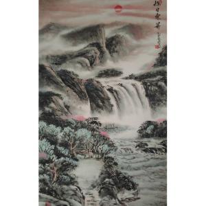 黄一龙国画作品《【旭日东升】作者黄一龙》价格626.00元