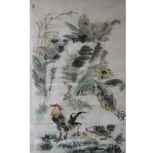 柳春雷国画作品《【花鸟】作者柳春雷》价格5760.00元