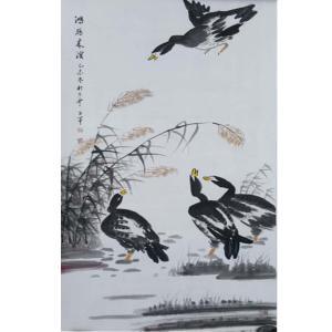 王世军国画作品《【鸿雁...】作者王世军》价格38400.00元