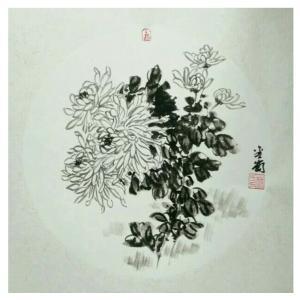 杨金岗国画作品《【菊花】作者杨金岗》价格480.00元