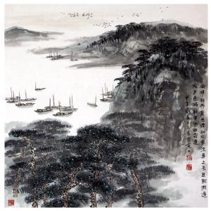 蒋元生国画作品《【山水9】作者蒋元生》价格2400.00元
