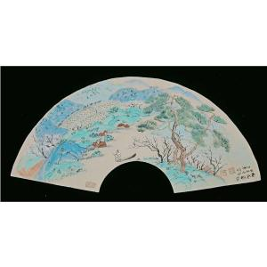 伍三平国画作品《【山水4】作者伍三平》价格960.00元