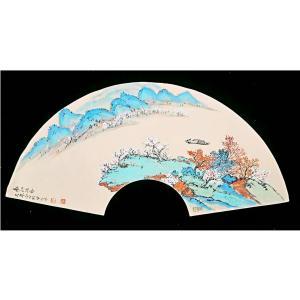 伍三平国画作品《【山水6】作者伍三平》价格960.00元