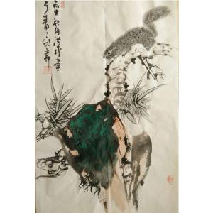 于洪成国画作品《【花鸟5】作者于洪成》价格200.00元