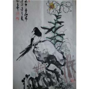 于洪成国画作品《【花鸟8】作者于洪成》价格200.00元