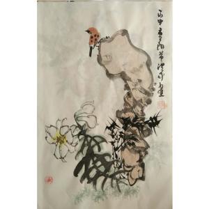 于洪成国画作品《【花鸟10】作者于洪成》价格200.00元