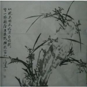 张文健国画作品《【梅兰菊竹系列4】作者张文健》价格1920.00元
